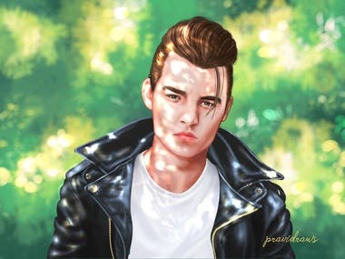 Young Johnny depp Digital painting