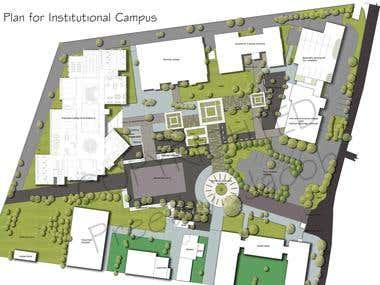 site plan for institutional campus