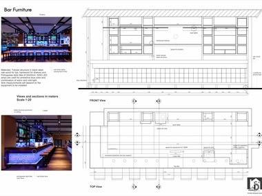 Details of Furniture for Restaurant 27bbq (Iceland)