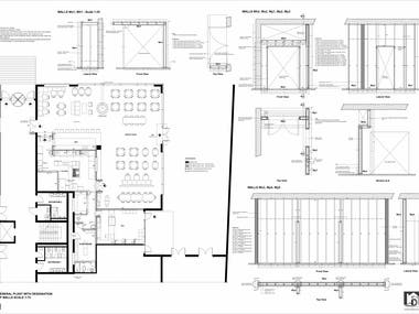 Technical drawings for installation - restaurant 27bbq (icel