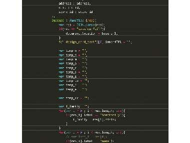 Sample of Code and Work in Image