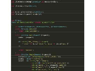 Sample of Code LARAVEL ( as image )