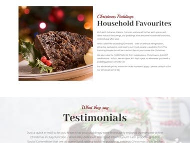 Website for The Pudding People