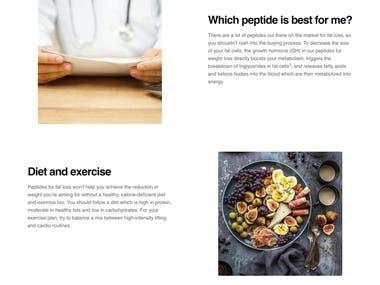 Website Design - Peptide Dr