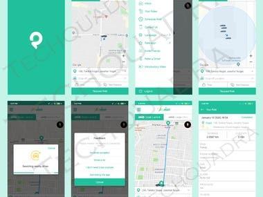 Uber like taxi app - Flutter App