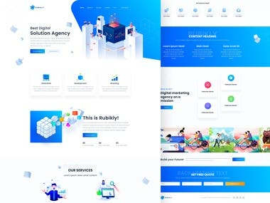 Landing Page - Rubikly Agency