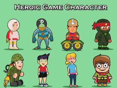 2D Game Art Character Design.
