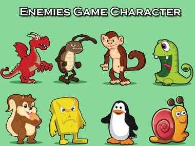 2D Game Art Enemy Character Design.