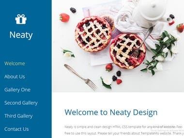 Neaty HTML Web template