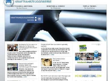 Joomla Portal Erstellung für das Kraftfahrzeuggewerbe
