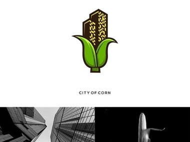 City of Corn Premium Logo Design