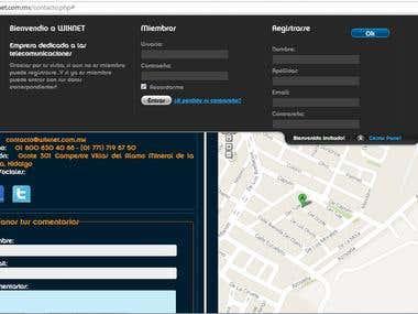Sitio Web Wixnet