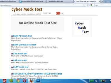 An Online Mock Test Site