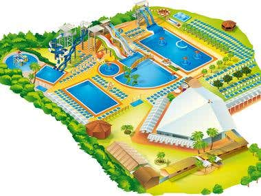 Illustrated Map for a game park