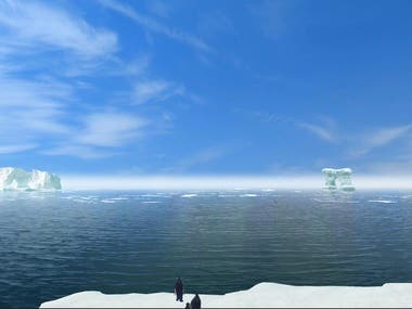 VR Antarctic experience