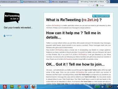 twitter retweet application
