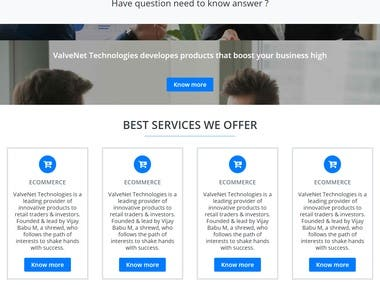 Trading analysis web design