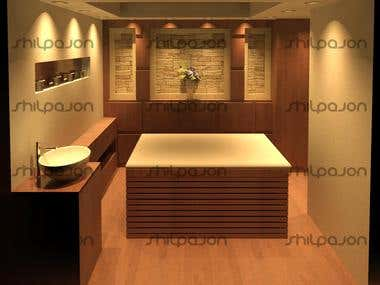 Design of Massage Room with Technical Drawings