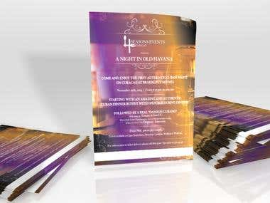 Project: Flyer Design for 4Seasons Events