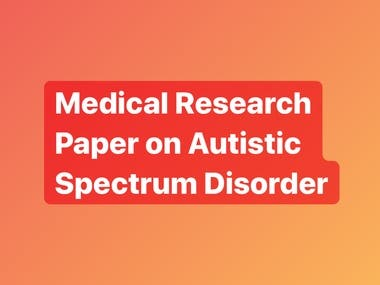 Autism Spectrum Disorder Medical Research