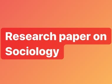 Sociology research article