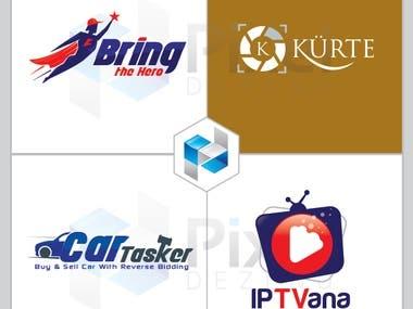 Minimal Icon Based, Initial Based, Font Based logo