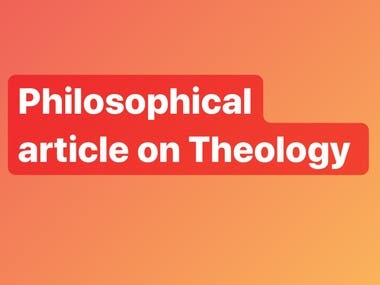 Philosophical article on Theology