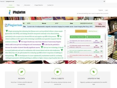 Plagiarism detection software