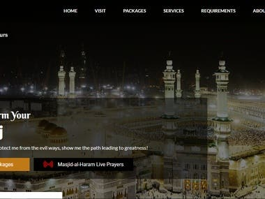 Moon Travels CMS Based Website