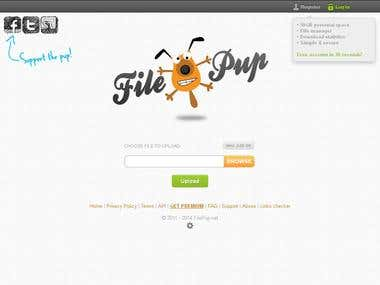 File upload web application built in PHP