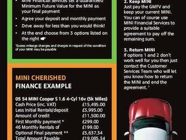 BMW MINIzine 8pp A5 Magazine