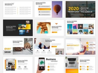 Minimalisic powerpoint design