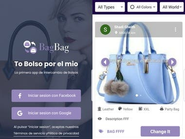 Social Woman bag Exchange App