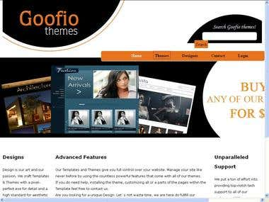Goofio themes application built in PHP
