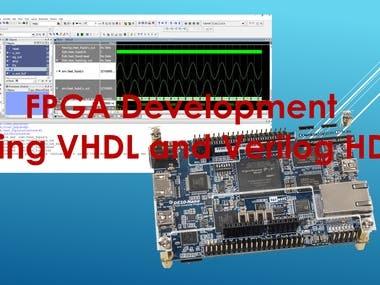 FPGA development using VHDL and Verilog HDL