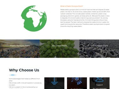 INDUSTRY WEBSITE USING WORDPRESS