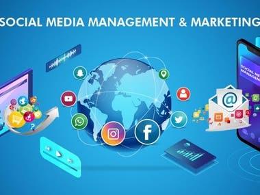 Social media marketing & management.