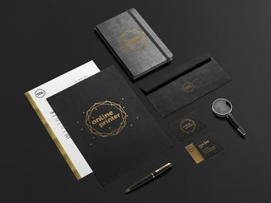 Lucury black and gold company's branding