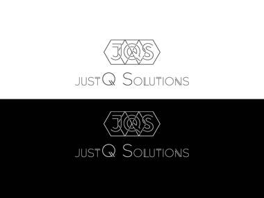 JQS Geometric Typography Logo