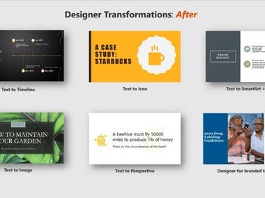 Designed/ Branded Powerpoint