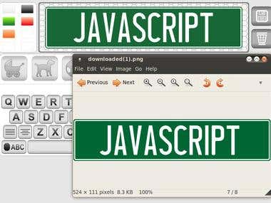 JavaScript Plate Custumizator