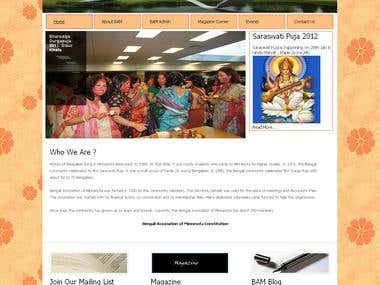Redesign of the website of Bengali Association of Minnesota