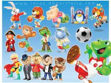 Cartoon mascot