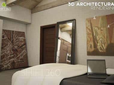 The Attic - 3D Architectural Rendering (Part 1)