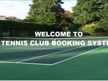 Excel Template for Booking in Tennis Club