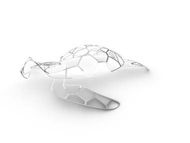 Abstract turtle decoration