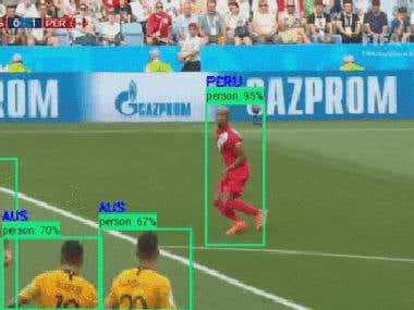 Analyze a Soccer game using machine learning