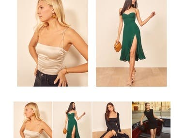 Fashion shopping website