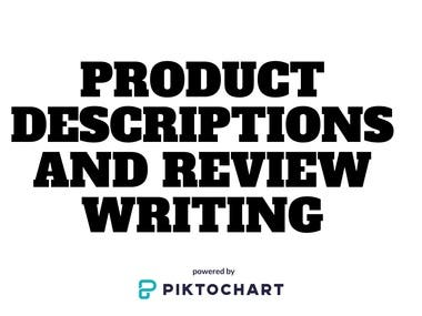 Product Descriptions &Review Writing
