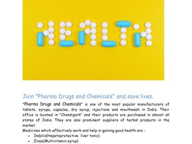 Goals of Pharma drug and chemicals